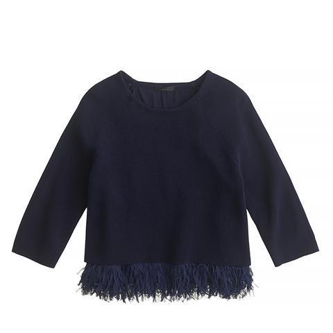 Chiffon Fringe Sweater
