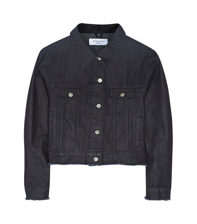 Marques'Almeida for Topshop Cropped Frayed Denim Jacket