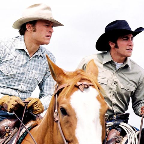 Jack and Ennis in Brokeback Mountain