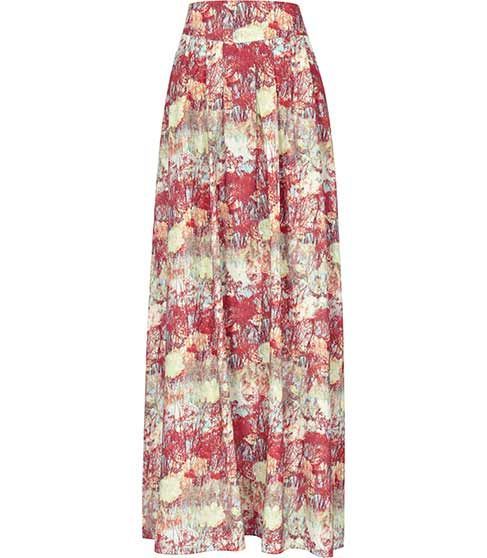 Reiss  Lotto Printed Frill Skirt
