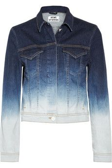 Acne  Stace Dégradé Stretch-Denim Jacket