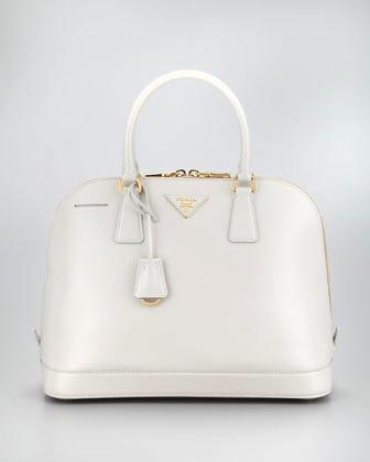 Prada Saffiano Vernice Round Dome Bag