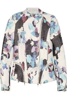 3.1 Phillip Lim  Floral-Print Corded Silk Biker Jacket