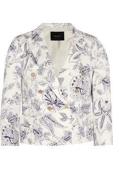 Isabel Marant  Lisa Printed Stretch-Cotton Twill Blazer