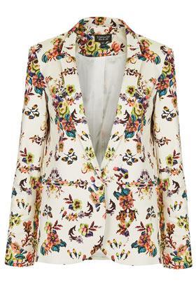 Topshop  Pixel Floral Blazer