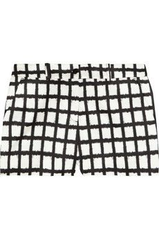 Michael Kors  Ikat-Print Matte-Sateen Shorts
