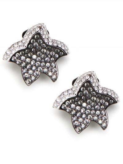 BaubleBar Dark Pave Star Earrings