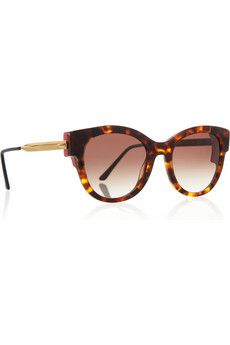 Thierry Lasry Angeley Round-Frame Tortoiseshell-Acetate Sunglasses