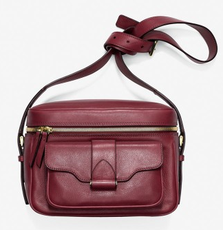 Derek Lam Red Newton Leather Camera Bag