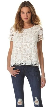 Madewell  Madewell Lace T-Shirt