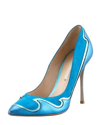 Nicholas Kirkwood   Wave Leather & Suede Pumps