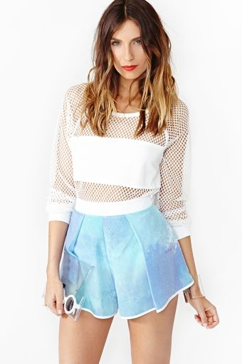 Nasty Gal  Digital Sky Shorts