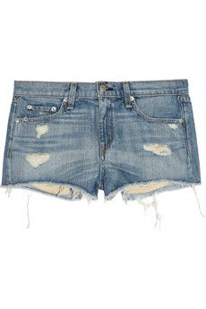 Rag & Bone/JEAN  Mila Distressed Denim Shorts