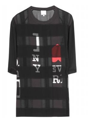 3.1 Phillip Lim Print Silk T-Shirt