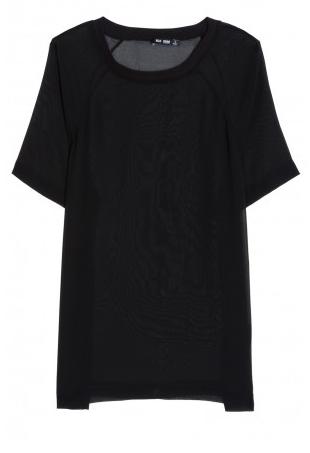BLK DNM Sheer Georgette Tee Shirt