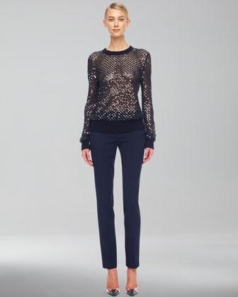 Michael Kors Cashmere Paillette Sweater