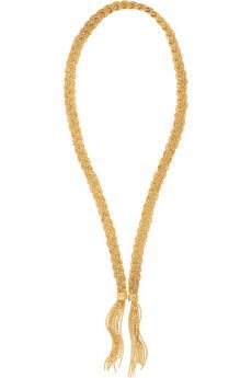 Aurélie Bidermann  Miki 18-Karat Gold Plated Braided Necklace