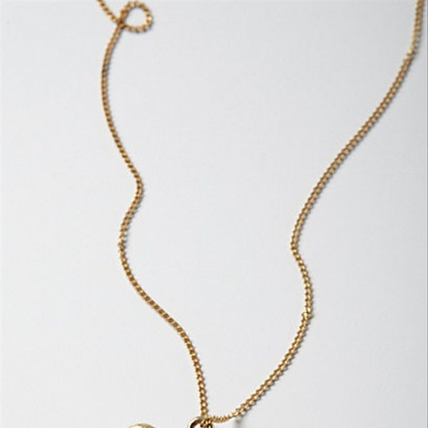 Anthropologie  Brass Cirque Necklace