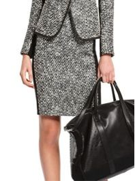 DKNY  DKNY Nocturne Pencil Skirt with Luxe Ponte Side