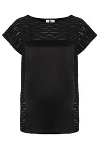 Topshop Silk Panel Top by Unique