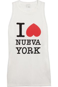 3.1 Phillip Lim I Heart Nueva York Cotton-Jersey Tank