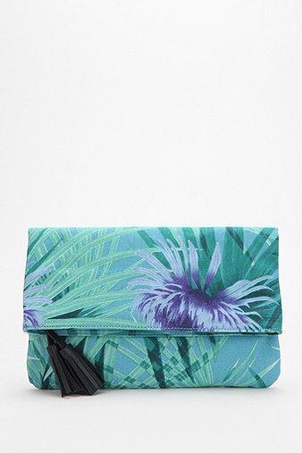 Kimchi Blue  Palm Print Fold-Over Clutch
