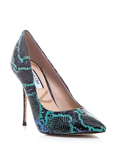 Lucy Choi London  Snake-Print Aster Shoes