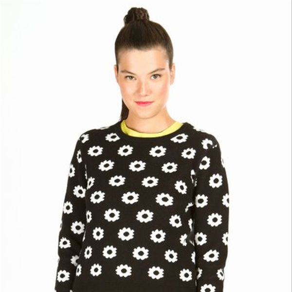 Opening Ceremony  Reversible Floral Long-Sleeve Pullover