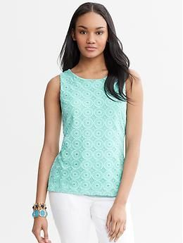 Banana Republic  Circle Lace Shell