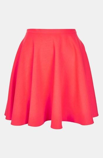 Topshop  Milano Jersey Skater Skirt