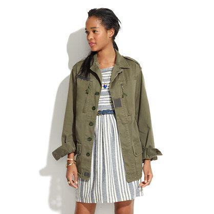 Madewell  Share With Vintage Military Jacket