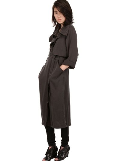 Minimarket  Long Twill Trench Coat