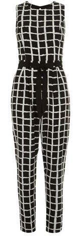 Dorothy Perkins  Black/Ivory Check Jumpsuit