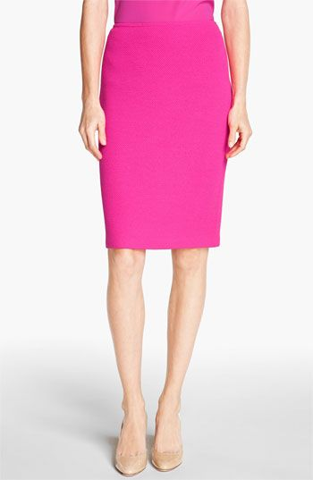 St. John Collection  Mod Pique Pencil Skirt