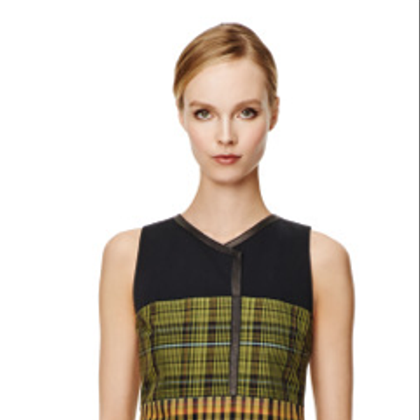 Derek Lam Shift Dress With Pleated Hem