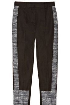 Derek Lam Cropped Cotton-Blend Tweed Pants