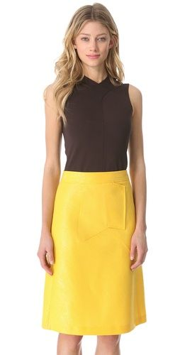 Derek Lam Sleeveless Top With Seaming