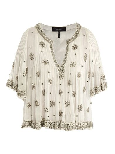 Isabel Marant Piper Beaded Blouse