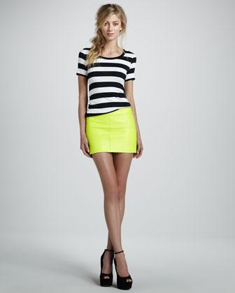 Bailey 44 Leather Mini Skirt