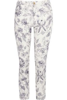 Isabel Marant Lucas Printed Cropped Skinny Jeans