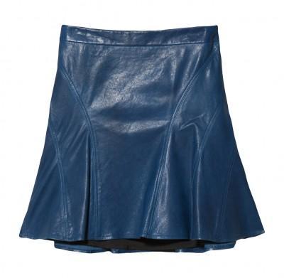 10 Crosby Derek Lam Leather Tulip Skirt