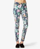 Forever 21 Tropical Print Skinny Jeans