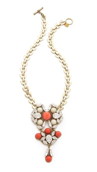 Anton Heunis  Crystal Drop Necklace