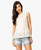 Forever 21  Peter Pan Collar Lace Top
