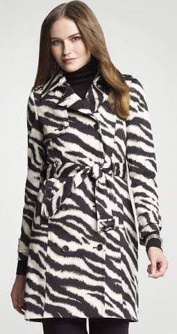 Anne Klein  Zebra Print Coat