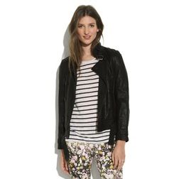 Madewell  Belted Leather Bomber Jacket