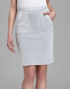 Marc Jacobs Marc Jacobs Seersucker Stripe Knit Skirt