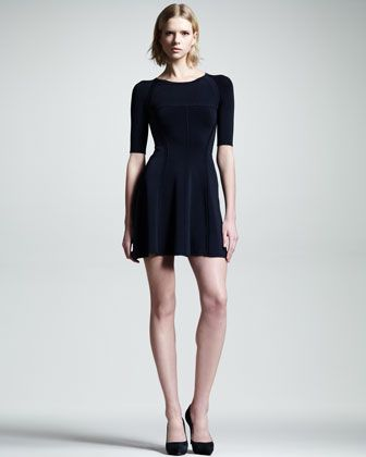 A.L.C.  Shelby Seamed Raglan Dress