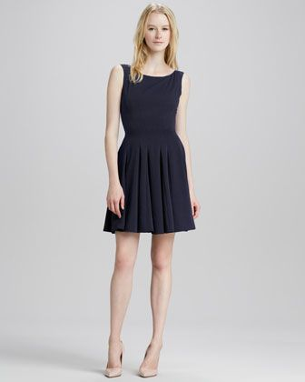 Theory  Kaien Pleasted Sleeveless Dress