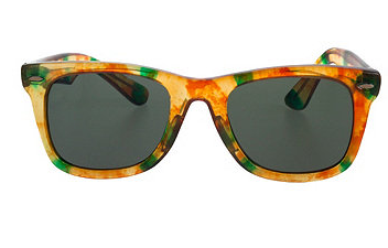 American Apparel Vintage Amber/Green Marbled Wayfarer Sunglasses